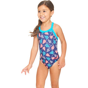 Zoggs Pears Ruffle X Back Swimsuit Flickor